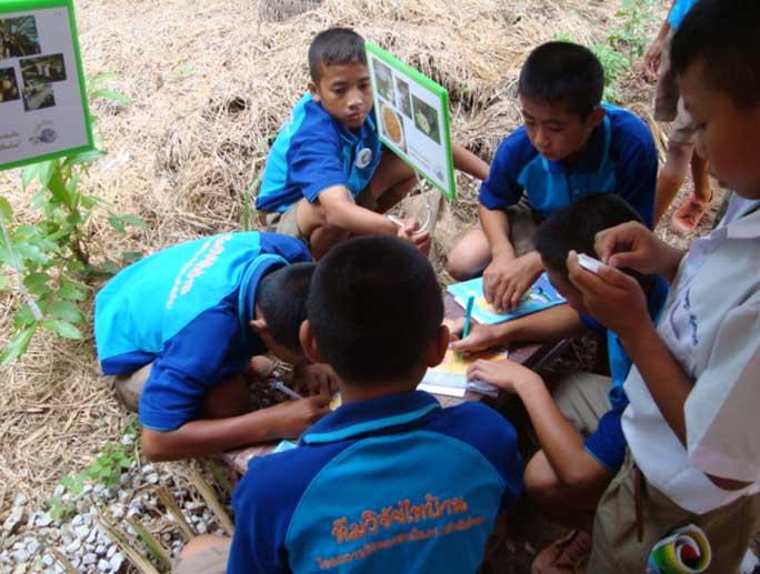 เด็กนักเรียนที่มาร่วมกิจกรรม